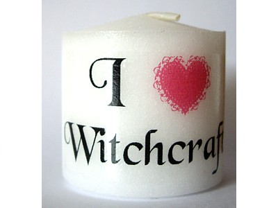 I Love Witchcraft 3.5cm Candle